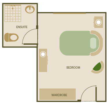 premium room with ensuite dementia specific layout