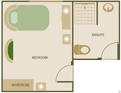 Standard Room with shared Ensuite Dementia Specific