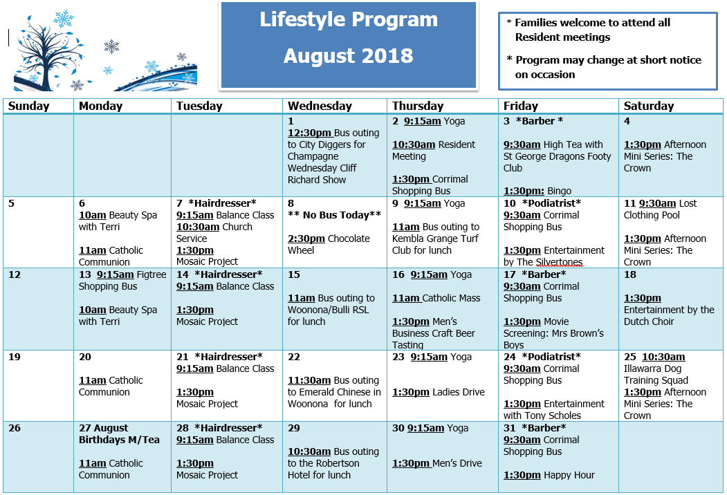 Illawarra Diggers lifestyle program
