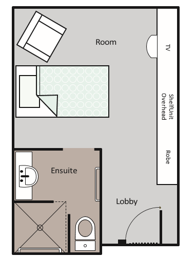 Deluxe Room with Ensuite Layout