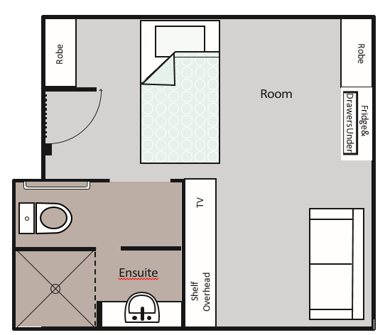Premium Suite Room Layout